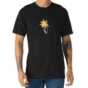 Vans Flower Skull T-Shirt Black Small NWT